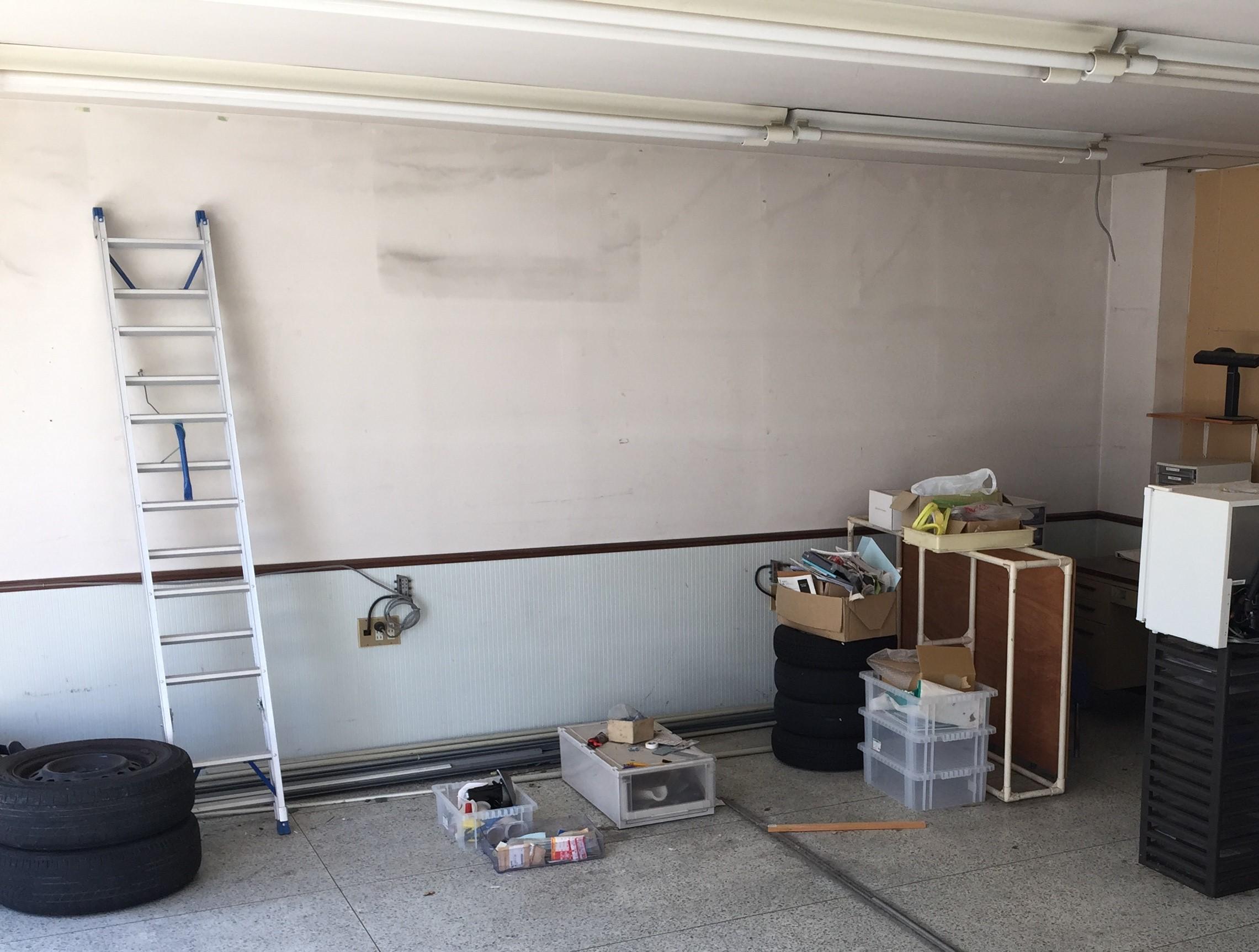 ジムの改装 壁まわり トレーニングスクール マルトレ 大垣